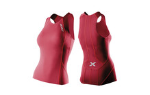 2XU Comp Tri Singlet Triathlon Kleding Dames rood